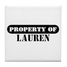 Property of Lauren Tile Coaster
