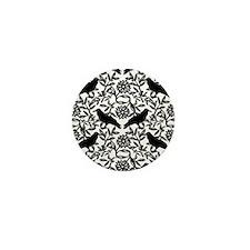 Raven Pattern Mini Button