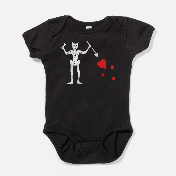 Blackbeards Flag Baby Bodysuit