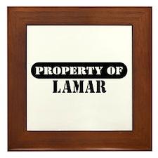 Property of Lamar Framed Tile