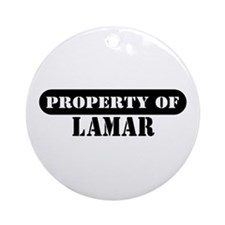Property of Lamar Ornament (Round)