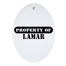 Property of Lamar Oval Ornament