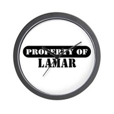 Property of Lamar Wall Clock