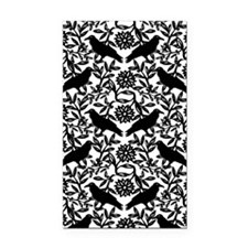 Raven Pattern Rectangle Car Magnet