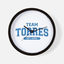 Grey's Anatomy Team Torres Wall Clock