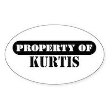 Property of Kurtis Oval Decal