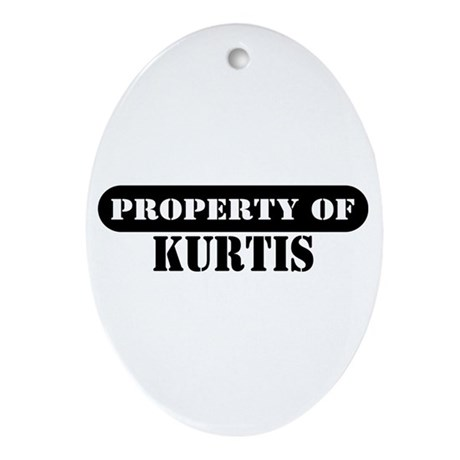 Property of Kurtis Oval Ornament