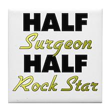 Half Surgeon Half Rock Star Tile Coaster