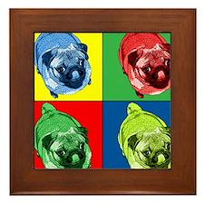 Unique Pug dog Framed Tile