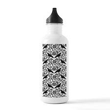 Raven Pattern Water Bottle