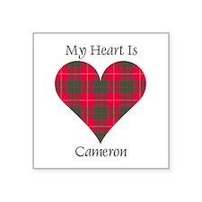 """Heart - Cameron Square Sticker 3"""" x 3"""""""