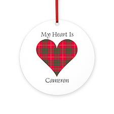 Heart - Cameron Ornament (Round)