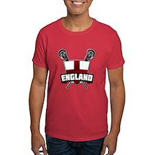 England Lacrosse Flag Logo T-Shirt