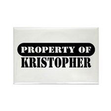 Property of Kristopher Rectangle Magnet