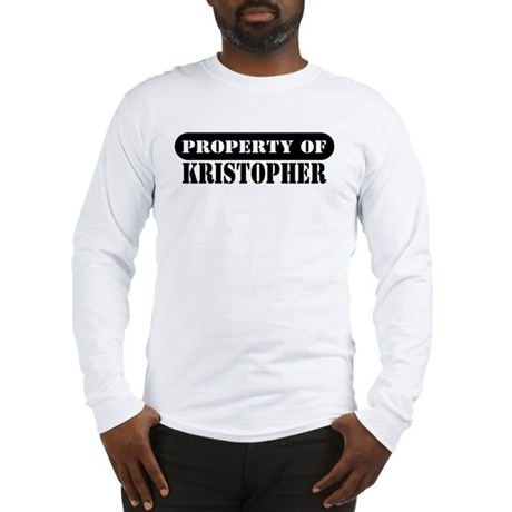 Property of Kristopher Long Sleeve T-Shirt