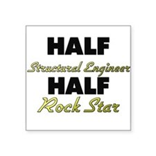 Half Structural Engineer Half Rock Star Sticker