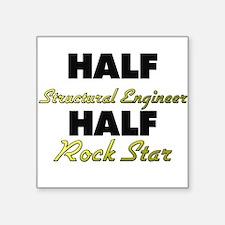 Half Structural Engineer Half Rock Star Sticker