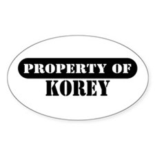 Property of Korey Oval Decal
