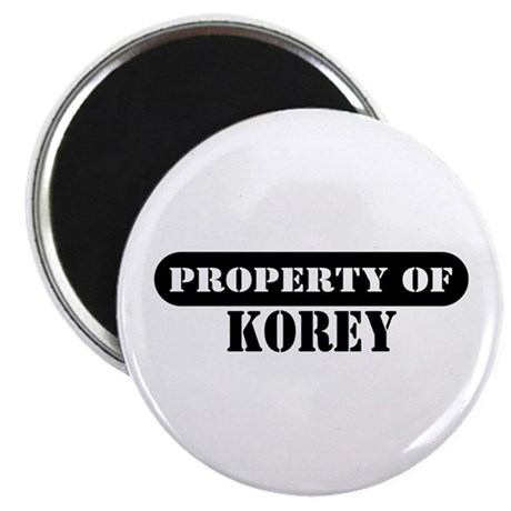 "Property of Korey 2.25"" Magnet (100 pack)"