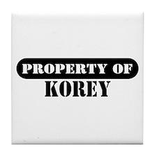 Property of Korey Tile Coaster