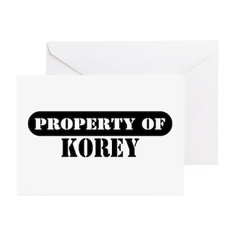 Property of Korey Greeting Cards (Pk of 10)