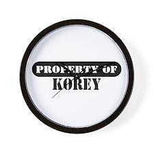 Property of Korey Wall Clock