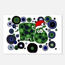 Christmas Hippo Abstract  Postcards (Package of 8)