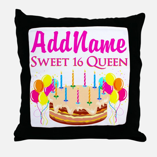 CELEBRATE 16 Throw Pillow