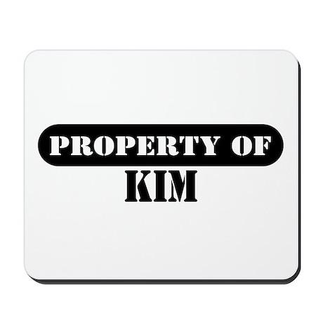 Property of Kim Mousepad