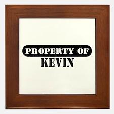 Property of Kevin Framed Tile