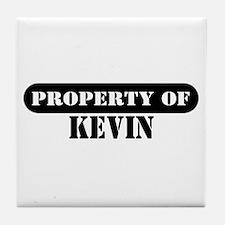 Property of Kevin Tile Coaster