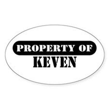 Property of Keven Oval Decal