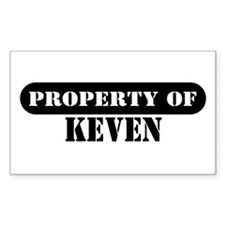 Property of Keven Rectangle Decal