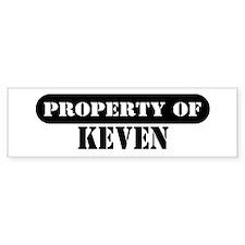 Property of Keven Bumper Bumper Sticker