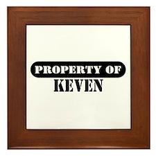 Property of Keven Framed Tile