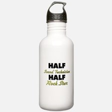 Half Sound Technician Half Rock Star Water Bottle