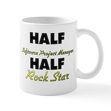 Half Software Project Manager Half Rock Star Mugs