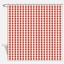 Small Red Gingham Shower Curtain