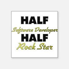 Half Software Developer Half Rock Star Sticker