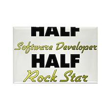 Half Software Developer Half Rock Star Magnets