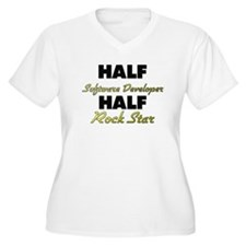 Half Software Developer Half Rock Star Plus Size T