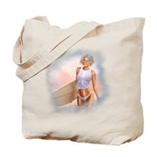 Sexy Surfer Girl Tote Bag