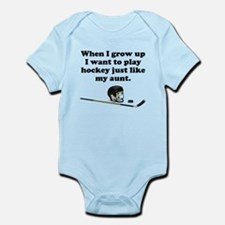 Play Hockey Like My Aunt Body Suit