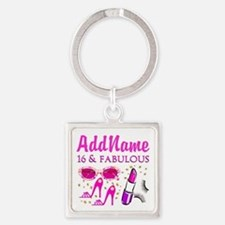 SNAZZY 16TH Square Keychain