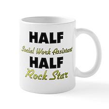 Half Social Work Assistant Half Rock Star Mugs
