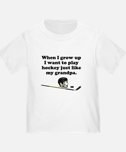 Play Hockey Like My Grandpa T-Shirt