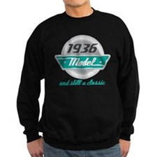 1936 Birthday Vintage Chrome Sweatshirt