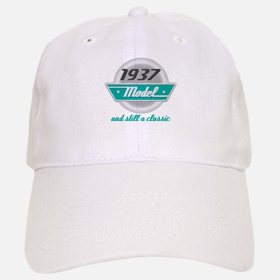 1937 Birthday Vintage Chrome Baseball Baseball Cap