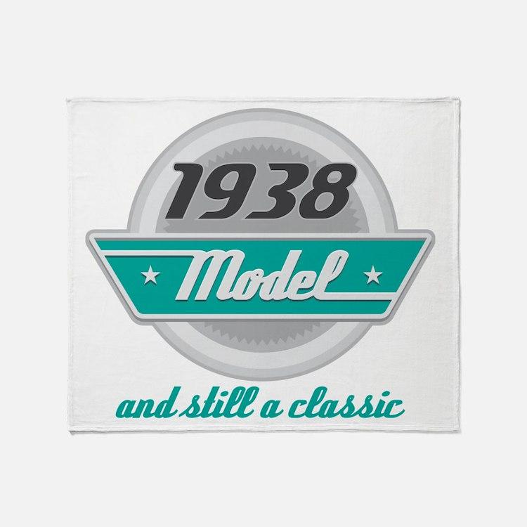 1938 Birthday Vintage Chrome Throw Blanket