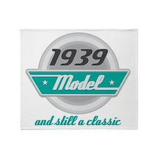 1939 Birthday Vintage Chrome Throw Blanket